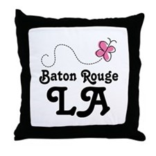 Pretty Baton Rouge Louisiana Throw Pillow