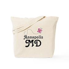 Pretty Annapolis Maryland Tote Bag