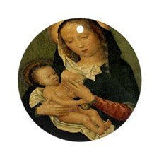 The Virgin Mary Ornament (Round)
