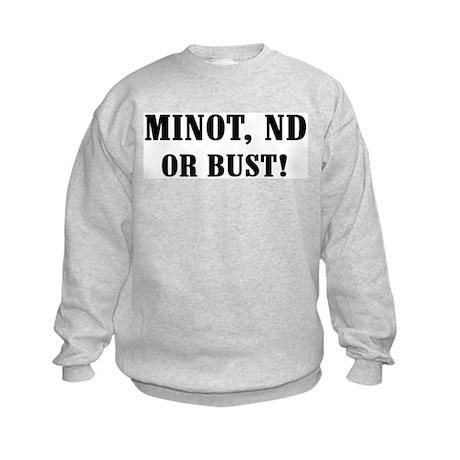 Minot or Bust! Kids Sweatshirt