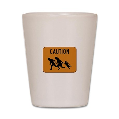 Immigrant Crossing Sign Shot Glass