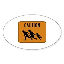Immigrant Crossing Sign Decal
