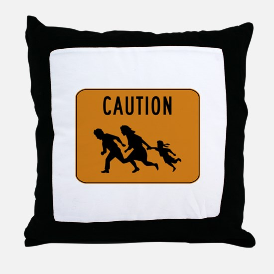 Immigrant Crossing Sign Throw Pillow