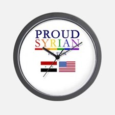 Proud Syrian in USA Wall Clock