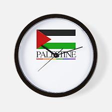 Palestine Rainbow Flag Wall Clock