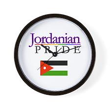 Jordanian Pride Falg Wall Clock