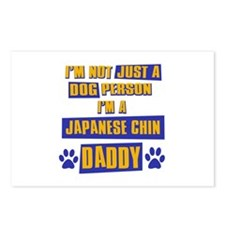 Japanese chin Daddy Postcards (Package of 8)