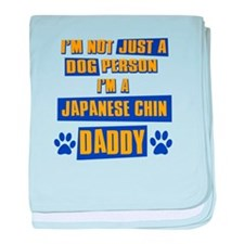 Japanese chin Daddy baby blanket
