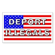 Deport Illegals Rectangle Decal