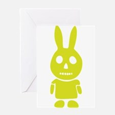Ghost Bunny Greeting Card