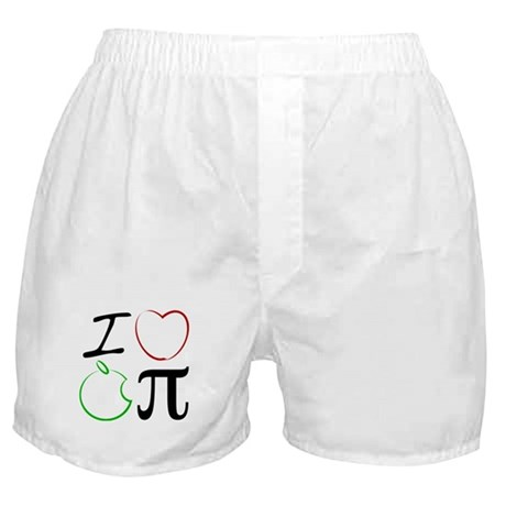 I Love Apple Pi Boxer Shorts