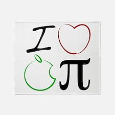 I Love Apple Pi Throw Blanket