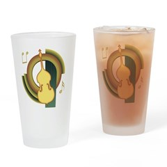 Double Bass Deco Pint Glass