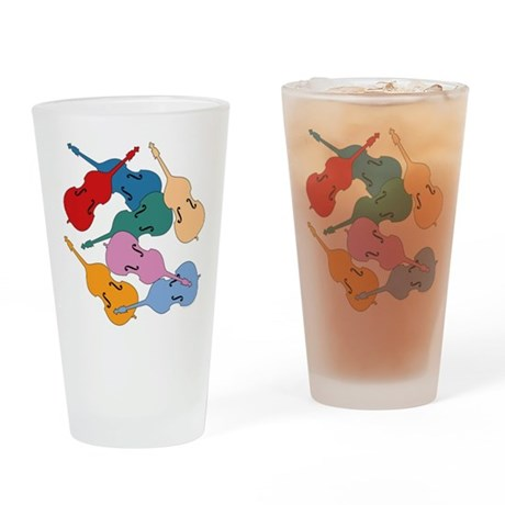Colorful Double Basses Pint Glass