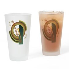 Trombone Deco Pint Glass