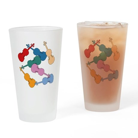 Colorful Violins - Pint Glass