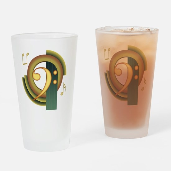 Bass Clef Deco Pint Glass