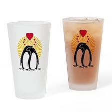 Loving Penguins Sun Pint Glass