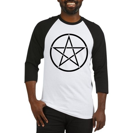 Star Pentacle Inside Circle Baseball Jersey