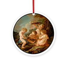 L'amour vendangeur Ornament (Round)