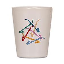 Colorful Alto Clarinet Shot Glass
