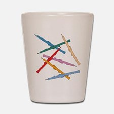 Colorful Oboes Shot Glass