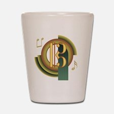 Alto/Tenor Clef Deco Shot Glass