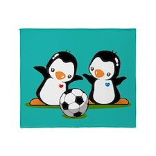 Soccer PenguinsThrow Blanket