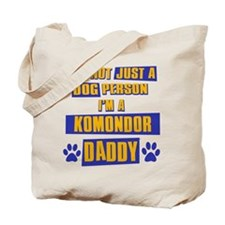 Komondor Daddy Tote Bag