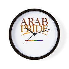 Arab Rainbow Pride Wall Clock