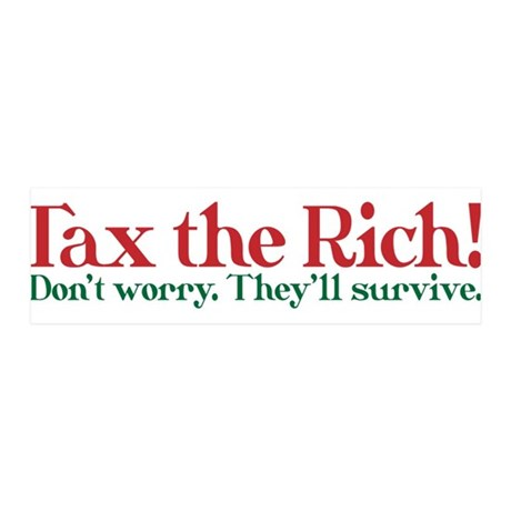 Tax the Filthy Rich 42x14 Wall Peel