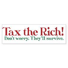 Tax the Filthy Rich Bumper Bumper Sticker