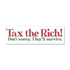 Tax the Filthy Rich Car Magnet 10 x 3