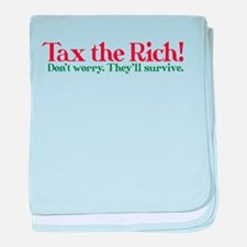 Tax the Filthy Rich baby blanket