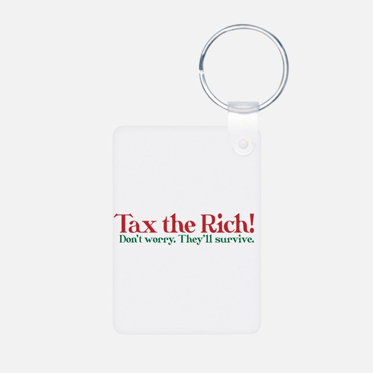 Tax the Filthy Rich Keychains