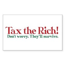 Tax the Filthy Rich Decal