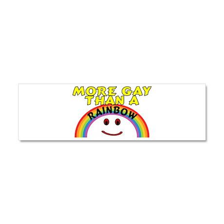 Gay Rainbow Car Magnet 10 x 3