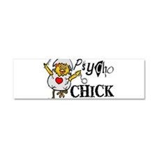 Psycho Chick Car Magnet 10 x 3