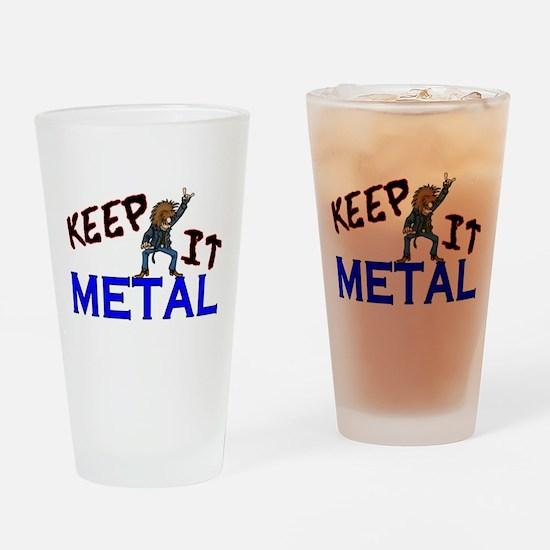 Keep It Metal Pint Glass