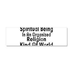 Spiritual Being Car Magnet 10 x 3