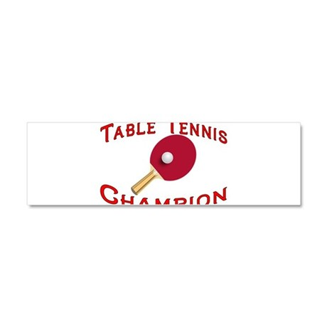 Table Tennis Champion Car Magnet 10 x 3