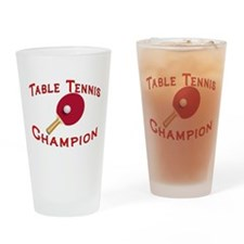 Table Tennis Champion Pint Glass