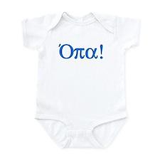 Opa (in Greek) Infant Bodysuit