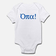 Opa (in Greek) Infant Bodysuit