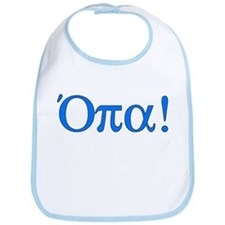 Opa (in Greek) Bib