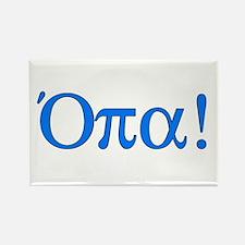 Opa (in Greek) Rectangle Magnet