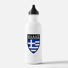 Greece (Greek) Patch Sports Water Bottle