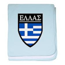 Greece (Greek) Patch baby blanket