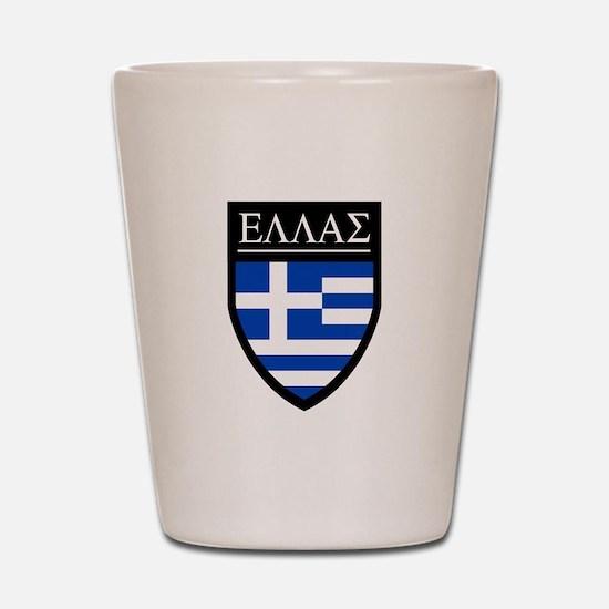 Greece (Greek) Patch Shot Glass