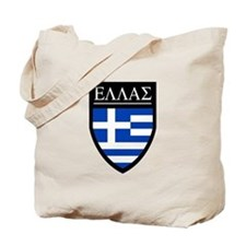 Greece (Greek) Patch Tote Bag